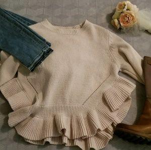 Sweaters - Ruffle bottom sweater